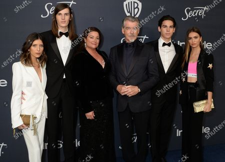 Avery Wheless, Dylan Brosnan, Keely Shaye Smith, Pierce Brosnan, Paris Brosnan and Alex Lee-Aillon