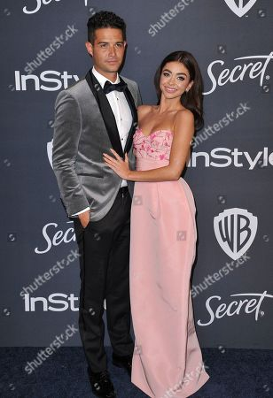 Wells Adams, Sarah Hyland. Wells Adams, left, and Sarah Hyland arrive at the InStyle and Warner Bros. Golden Globes afterparty at the Beverly Hilton Hotel, in Beverly Hills, Calif
