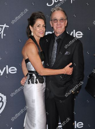Jane Hajduk, Tim Allen. Jane Hajduk, left, and Tim Allen arrive at the InStyle and Warner Bros. Golden Globes afterparty at the Beverly Hilton Hotel, in Beverly Hills, Calif