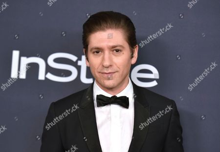 Michael Zegen arrives at the InStyle and Warner Bros. Golden Globes afterparty at the Beverly Hilton Hotel, in Beverly Hills, Calif