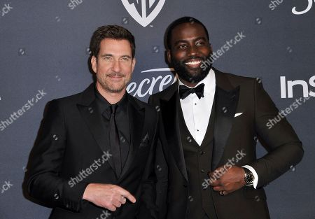 Dylan McDermott, Shamier Anderson. Dylan McDermott, left, and Shamier Anderson arrive at the InStyle and Warner Bros. Golden Globes afterparty at the Beverly Hilton Hotel, in Beverly Hills, Calif