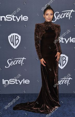 Stock Image of Kat Graham arrives at the InStyle and Warner Bros. Golden Globes afterparty at the Beverly Hilton Hotel, in Beverly Hills, Calif