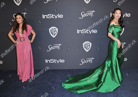Janel Parrish, Arden Cho. Janel Parrish, left, and Arden Cho arrive at the InStyle and Warner Bros. Golden Globes afterparty at the Beverly Hilton Hotel, in Beverly Hills, Calif