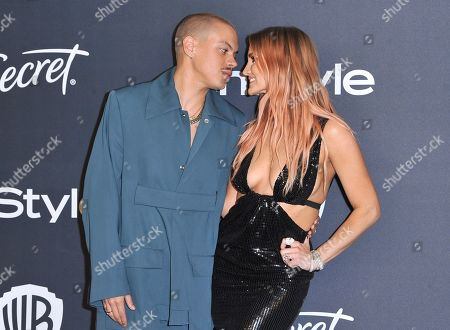 Evan Ross, Ashlee Simpson. Evan Ross, left, and Ashlee Simpson arrive at the InStyle and Warner Bros. Golden Globes afterparty at the Beverly Hilton Hotel, in Beverly Hills, Calif