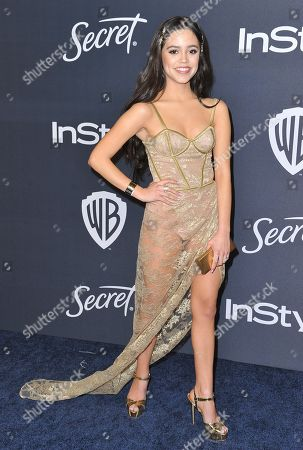 Jenna Ortega arrives at the InStyle and Warner Bros. Golden Globes afterparty at the Beverly Hilton Hotel, in Beverly Hills, Calif