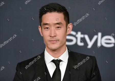 Mike Moh arrives at the InStyle and Warner Bros. Golden Globes afterparty at the Beverly Hilton Hotel, in Beverly Hills, Calif