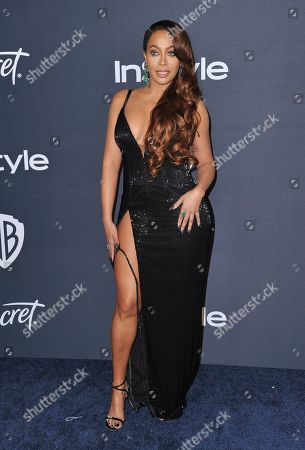 La La Anthony arrives at the InStyle and Warner Bros. Golden Globes afterparty at the Beverly Hilton Hotel, in Beverly Hills, Calif