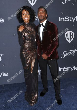 Zuri Hall, Scott Evans. Zuri Hall, left, and Scott Evans arrive at the InStyle and Warner Bros. Golden Globes afterparty at the Beverly Hilton Hotel, in Beverly Hills, Calif