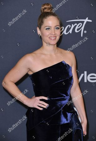 Erika Christensen arrives at the InStyle and Warner Bros. Golden Globes afterparty at the Beverly Hilton Hotel, in Beverly Hills, Calif