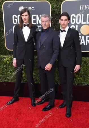 Dylan Brosnan, Pierce Brosnan and Paris Brosnan