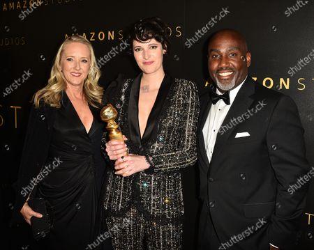 Jennifer Salke, Phoebe Waller-Bridge and Vernon Sanders