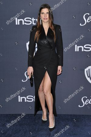 Lake Bell arrives at the InStyle and Warner Bros. Golden Globes afterparty at the Beverly Hilton Hotel, in Beverly Hills, Calif
