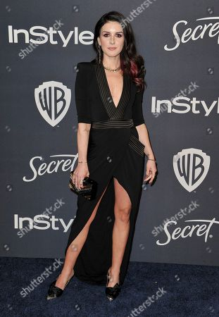 Shenae Grimes arrives at the InStyle and Warner Bros. Golden Globes afterparty at the Beverly Hilton Hotel, in Beverly Hills, Calif