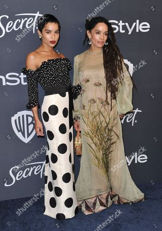Zoe Kravitz, Lisa Bonet. Zoe Kravitz, left, and Lisa Bonet arrive at the InStyle and Warner Bros. Golden Globes afterparty at the Beverly Hilton Hotel, in Beverly Hills, Calif