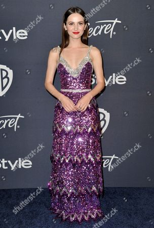 Maude Apatow arrives at the InStyle and Warner Bros. Golden Globes afterparty at the Beverly Hilton Hotel, in Beverly Hills, Calif