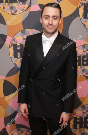 Kieran Culkin arrives at the HBO Golden Globes afterparty at the Beverly Hilton Hotel, in Beverly Hills, Calif