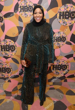 Stock Photo of Ibtihaj Muhammad arrives at the HBO Golden Globes afterparty at the Beverly Hilton Hotel, in Beverly Hills, Calif