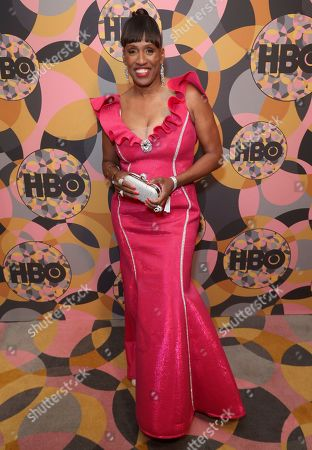Stock Picture of Jackie Joyner-Kersee arrives at the HBO Golden Globes afterparty at the Beverly Hilton Hotel, in Beverly Hills, Calif