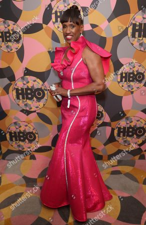 Stock Photo of Jackie Joyner-Kersee arrives at the HBO Golden Globes afterparty at the Beverly Hilton Hotel, in Beverly Hills, Calif