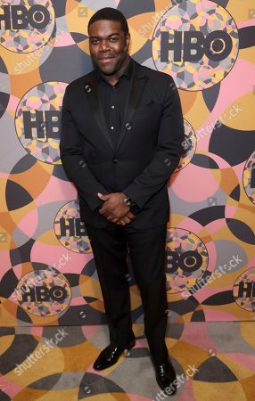 Sam Richardson arrives at the HBO Golden Globes afterparty at the Beverly Hilton Hotel, in Beverly Hills, Calif