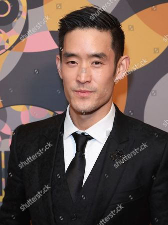 Mike Moh arrives at the HBO Golden Globes afterparty at the Beverly Hilton Hotel, in Beverly Hills, Calif