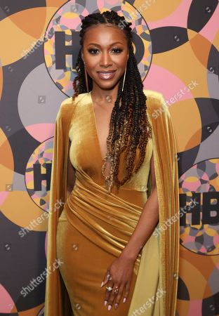 Gabrielle Dennis arrives at the HBO Golden Globes afterparty at the Beverly Hilton Hotel, in Beverly Hills, Calif