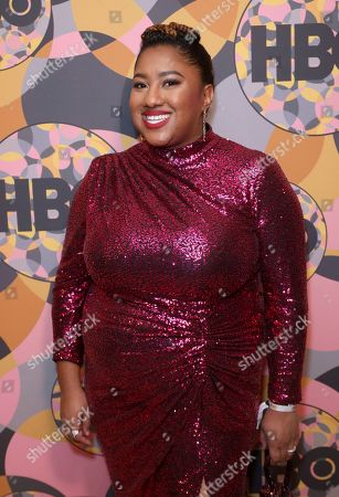 Ashley Nicole Black arrives at the HBO Golden Globes afterparty at the Beverly Hilton Hotel, in Beverly Hills, Calif