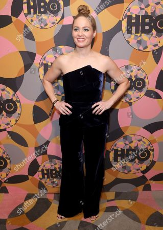 Erika Christensen arrives at the HBO Golden Globes afterparty at the Beverly Hilton Hotel, in Beverly Hills, Calif