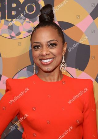 Nischelle Turner arrives at the HBO Golden Globes afterparty at the Beverly Hilton Hotel, in Beverly Hills, Calif