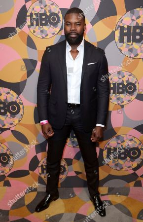 Amin Joseph arrives at the HBO Golden Globes afterparty at the Beverly Hilton Hotel, in Beverly Hills, Calif
