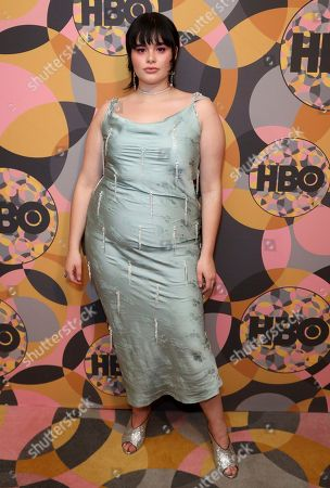 Barbie Ferreira arrives at the HBO Golden Globes afterparty at the Beverly Hilton Hotel, in Beverly Hills, Calif