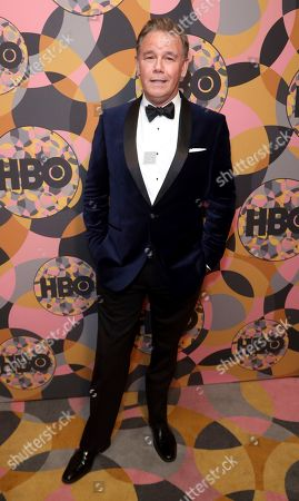 Spencer Garrett arrives at the HBO Golden Globes afterparty at the Beverly Hilton Hotel, in Beverly Hills, Calif