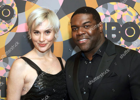 Stock Image of Nicole Boyd, Sam Richardson. Nicole Boyd, left, and Sam Richardson arrive at the HBO Golden Globes afterparty at the Beverly Hilton Hotel, in Beverly Hills, Calif