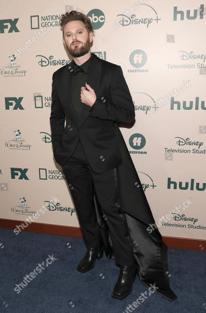 Bobby Berk arrives at the FX and Disney Golden Globes afterparty at the Beverly Hilton Hotel, in Beverly Hills, Calif