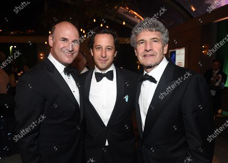 Stock Picture of Matthew Greenfield, President, Production, Searchlight Pictures, David Greenbaum, President, Production, Searchlight Pictures, and Alan Horn, Co-Chairman Walt Disney Studios