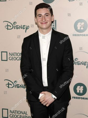 Stock Photo of Sam Lerner arrives at the FX and Disney Golden Globes afterparty at the Beverly Hilton Hotel, in Beverly Hills, Calif