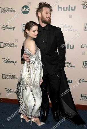 Joey King, Bobby Berk. Joey King, left, and Bobby Berk arrive at the FX and Disney Golden Globes afterparty at the Beverly Hilton Hotel, in Beverly Hills, Calif