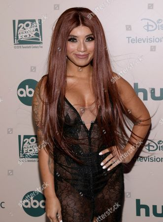Kirstin Maldonado arrives at the FX and Disney Golden Globes afterparty at the Beverly Hilton Hotel, in Beverly Hills, Calif