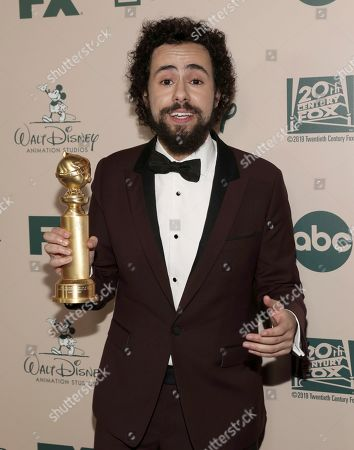 Ramy Youssef arrives at the FX and Disney Golden Globes afterparty at the Beverly Hilton Hotel, in Beverly Hills, Calif