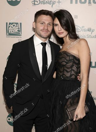 Jon Rudnitsky, Courtney Grant. Jon Rudnitsky, left, and Courtney Grant arrive at the FX and Disney Golden Globes afterparty at the Beverly Hilton Hotel, in Beverly Hills, Calif