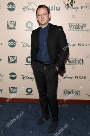 Stock Picture of Lewis Pullman arrives at the FX and Disney Golden Globes afterparty at the Beverly Hilton Hotel, in Beverly Hills, Calif