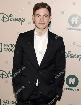 Graham Patrick Martin arrives at the FX and Disney Golden Globes afterparty at the Beverly Hilton Hotel, in Beverly Hills, Calif