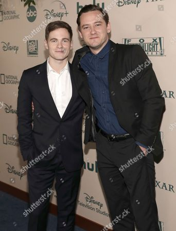 Graham Patrick Martin, Lewis Pullman. Graham Patrick Martin, left, and Lewis Pullman arrive at the FX and Disney Golden Globes afterparty at the Beverly Hilton Hotel, in Beverly Hills, Calif