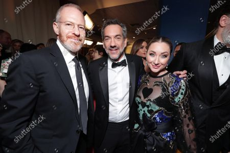 Stock Photo of Toby Emmerich, Chairman, Warner Bros. Pictures Group, Todd Phillips, Blair Rich, President, Worldwide Marketing, Warner Bros. Pictures Group and Warner Bros. Home Entertainment,