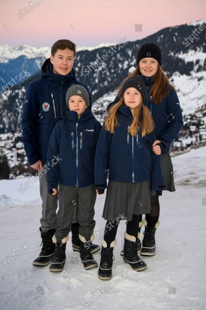Editorial picture of Danish royal family photocall, Switzerland - 06 Jan 2020