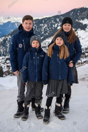 Editorial image of Danish royal family photocall, Switzerland - 06 Jan 2020