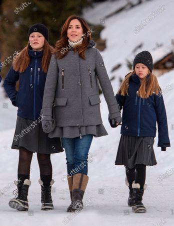 Stock Picture of Princess Isabella, Crown Princess Mary, Princess Josephine