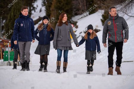 Prince Christian, Princess Isabella, Prince Vincent and Princess Josephine, Crown Prince Frederik, Crown Princess Mary