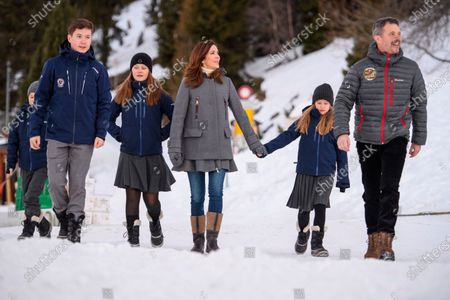 Editorial image of Danish royal family photocall, Switzerland - 06 Jan 2020