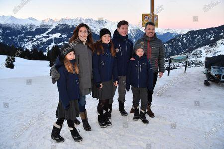 Princess Josephine, Crown Princess Mary, Princess Isabella, Prince Christian, Prince Vincent, Crown Prince Frederik